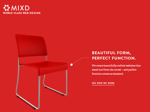 Minimalistic Design Landing Pages