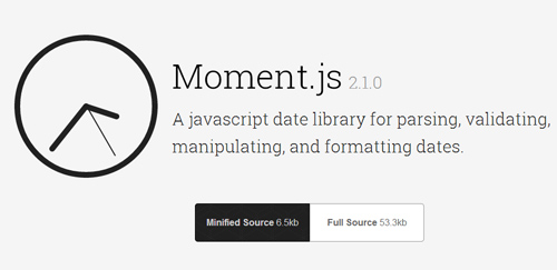 Moment.js: A JavasSript Date Library for Parsing, Validating, Manipulating and Formatting Dates