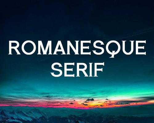 Romanesque Serif free font
