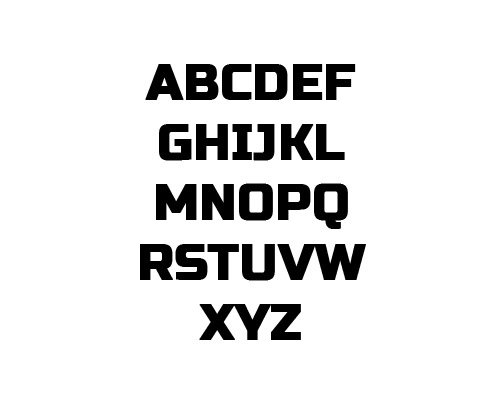 Russo One Free Font Typography / Lettering