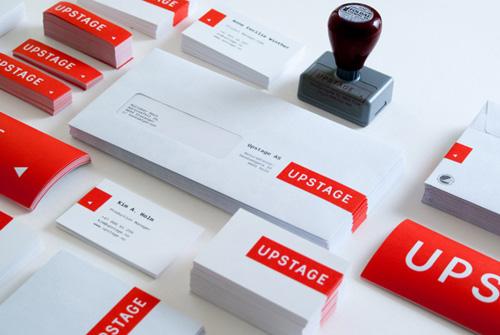 Upstage identity Branding letterhead