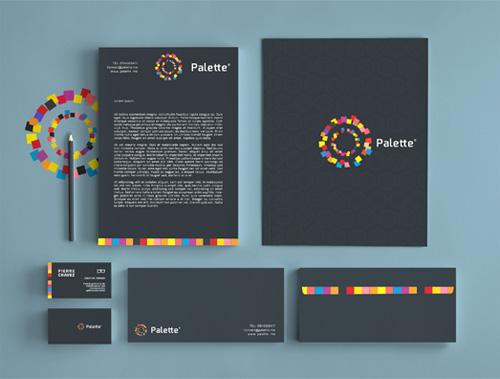 Palette / Visual Identity Branding letterhead