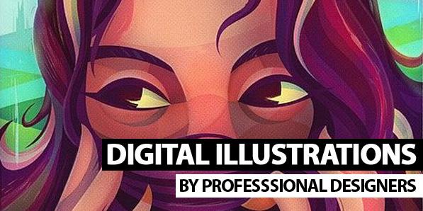 25 Amazing Digital Illustrations by Professional Designers