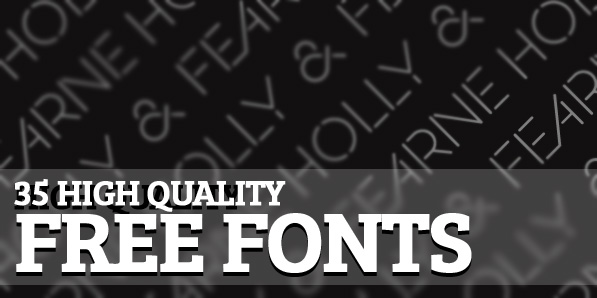 35 High Quality Free Fonts For Professional Graphic Designers