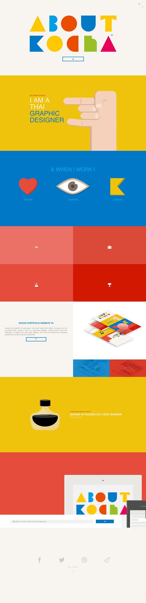 Kocha One Page Website Design