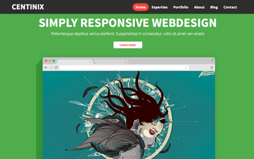 Centinix One Page Website Design