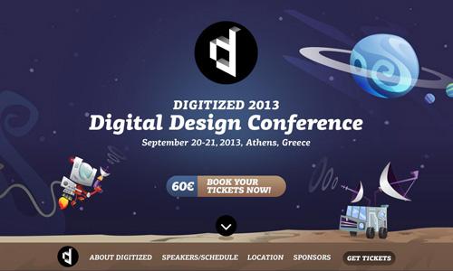 Digitized 2013 One Page Website Design