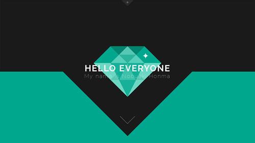 Nobuaki Honma One Page Website Design