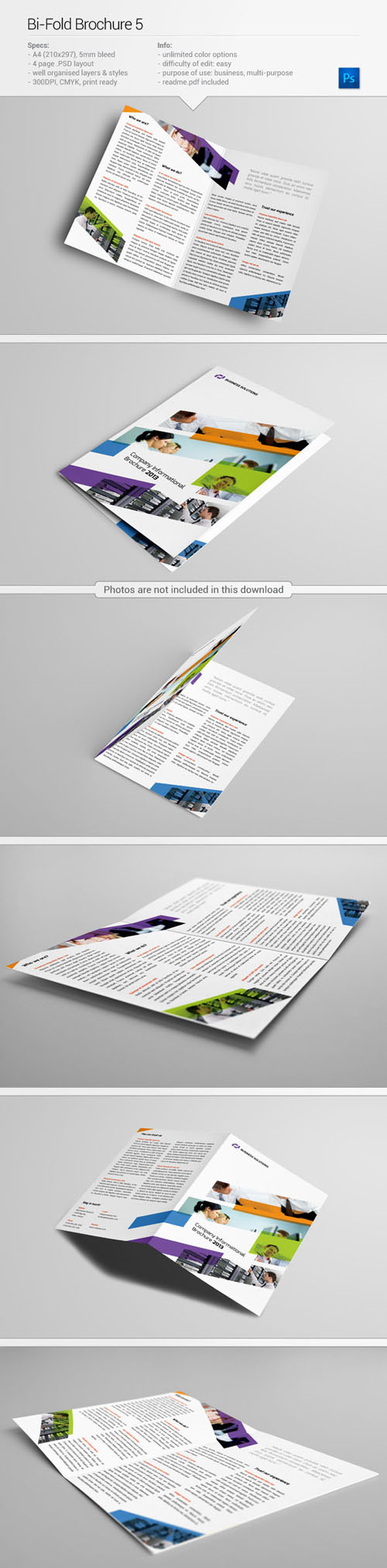 Bi-Fold Brochure Free PSD File