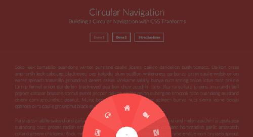 Building a Circular Navigation with CSS Transforms