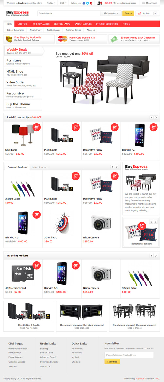 BuyExpress - Ecommerce Magento Theme