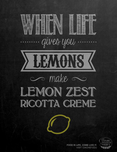 Culinary Institute of America: Lemons Print Advertising