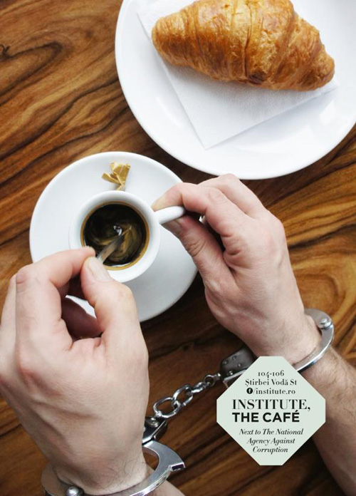 institute.ro: The handcuffs Print Advertising