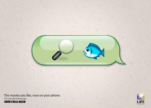 Life Cinemas app: Finding Nemo Print Advertising