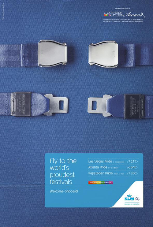KLM: Worldwide Pride Festivals Print Advertising