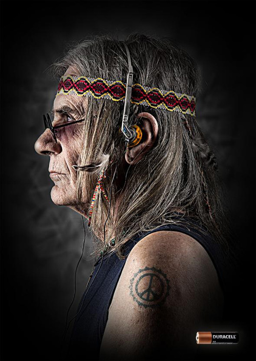 Duracell: Hippie Print Advertising
