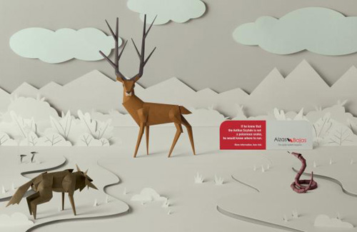Alzas y Bajas Magazine: Deer Print Advertising