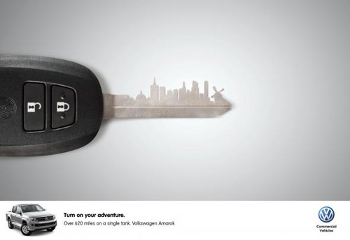Volkswagen Amarok: City Print Advertising