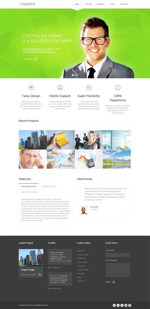 Crystalline - Premium HTML5 Template