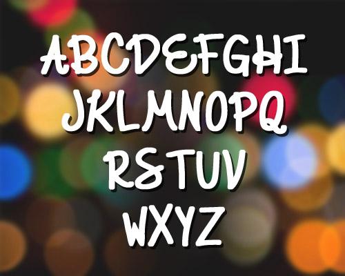 Elegant Ink Fonts Letters
