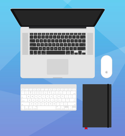 Flat Designer's Essentials Free PSD File