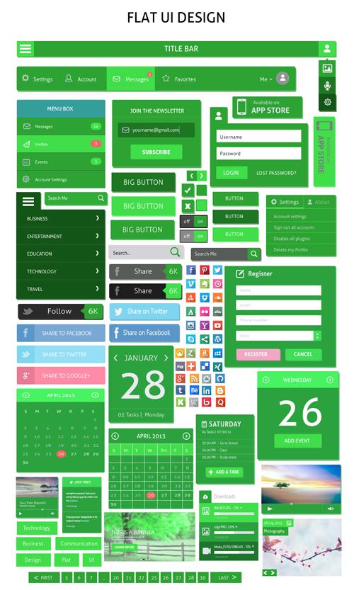 Free Flat UI Design