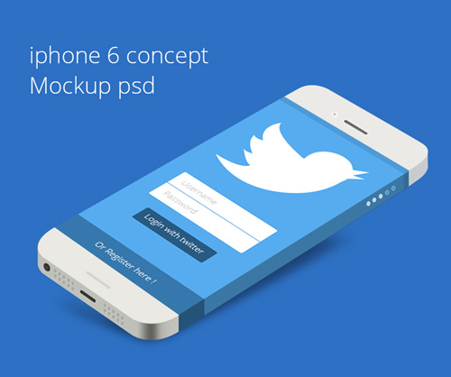 Free iPhone 6 Concept Mockup PSD Free PSD File