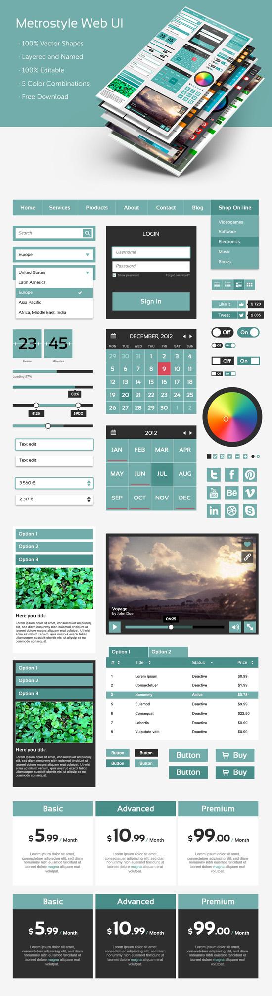 Metro Web UI Kit