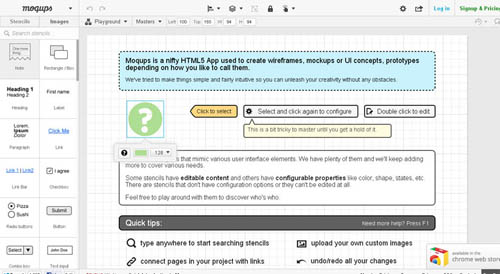 Mockups - HTML5 Apps for Creating Wireframes & Mockups