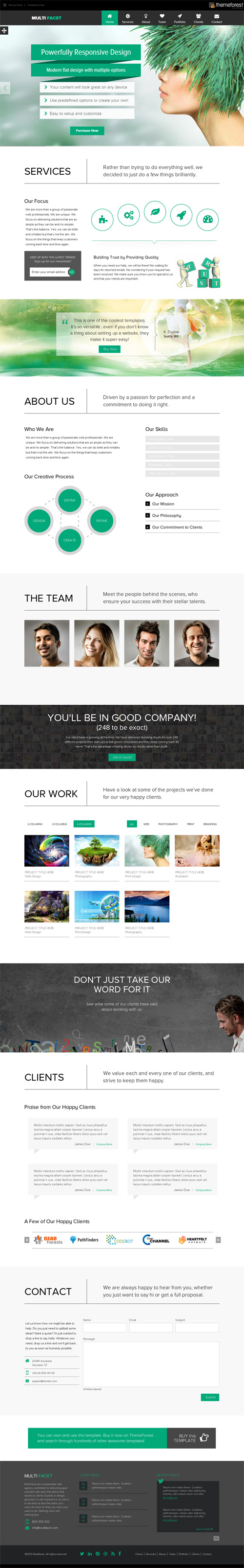 MultiFacet - Responsive One Page Template