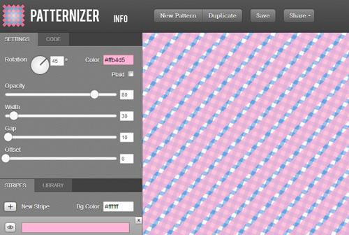 Patternizer  Stripe Pattern Generator Tool