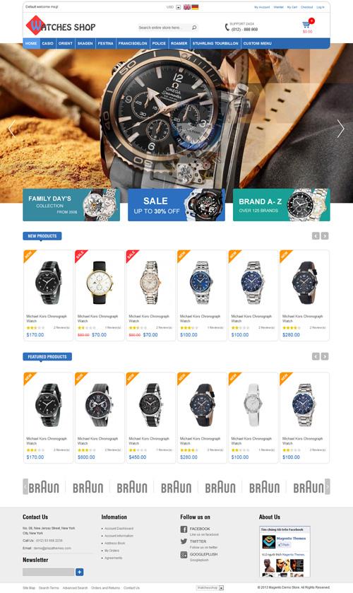 Watches Shop Responsive Magento Theme