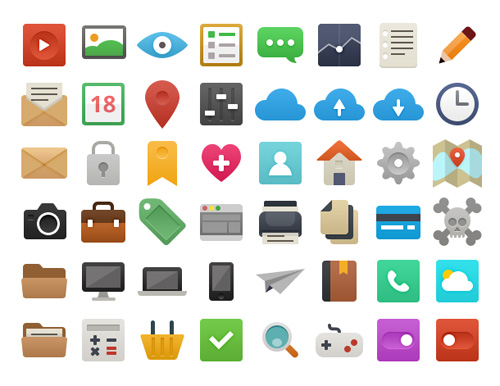 Flat - Icon Set