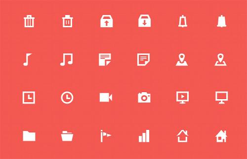 30 Free Flat Mini Icons