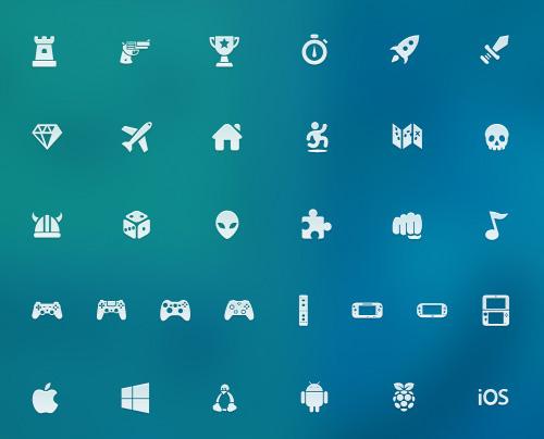 Freebie: Video Game Icon Set