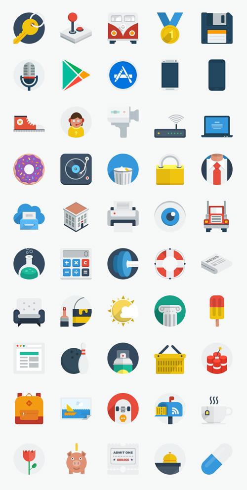 50 New Flat UI Icons