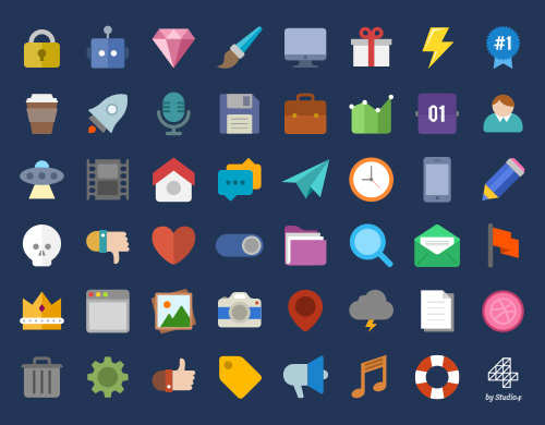 Beautiful Free Flat Icons