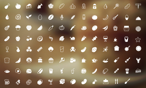 100+ delicious icons for every taste