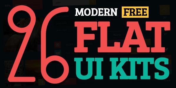 26 Modern Free Flat UI Kits