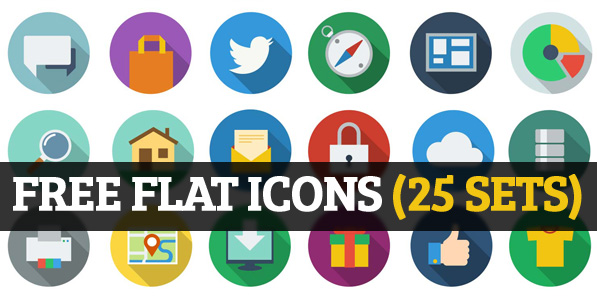 25 Sets of Free Flat Icons