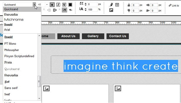 website design formatting