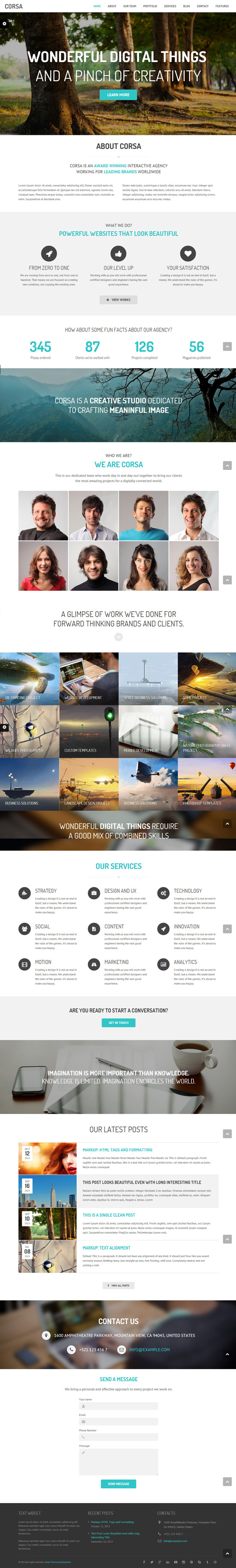 Corsa – Retina Responsive Creative OnePage Theme