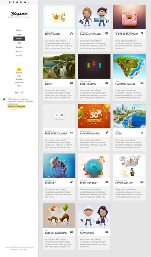 Elegance - Responsive Portfolio WordPress Theme