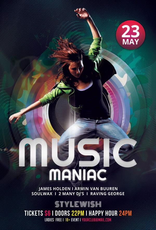 Music Maniac Flyer
