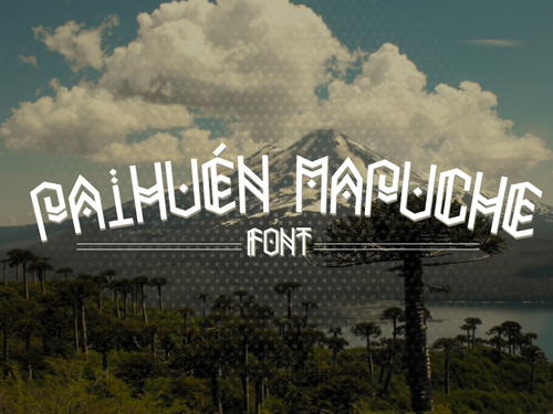 Paihuen Mapuche (Graphical Font)