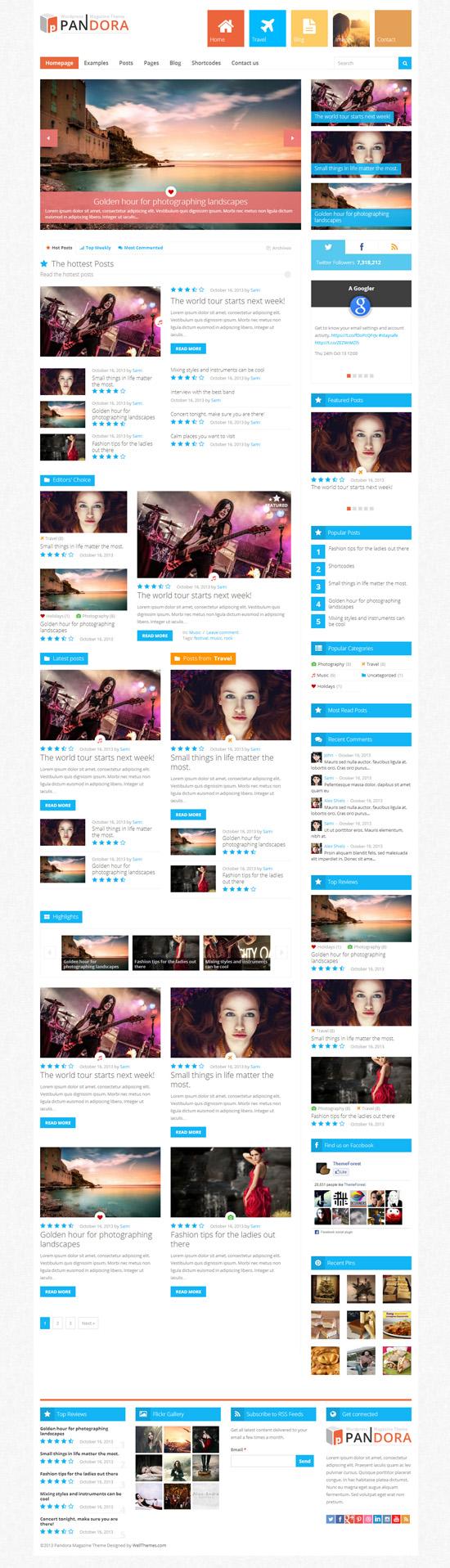Pandora - Responsive WordPress Magazine Theme