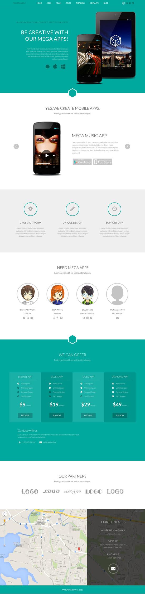 Pandora Box: Onepage WordPress Template