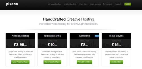 Pixeno web hosting provider