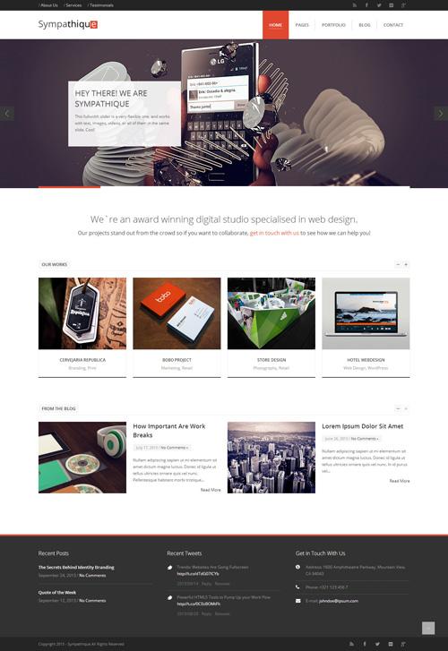 Sympathique - Responsive WordPress Theme