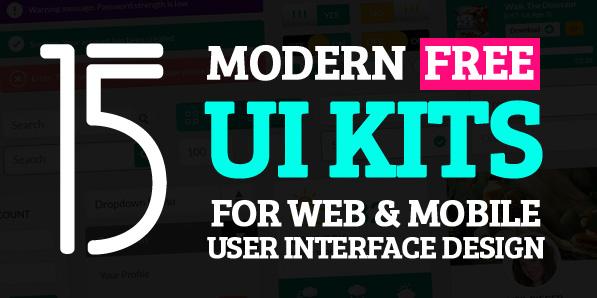 15 Modern Free UI Kits for Web & Mobile UI Design